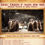 PRESEPE VIVENTE IN ABITO D'EPOCA A MONTEBELLO JONICO – 6 gennaio ore 17,30